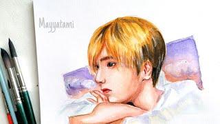 SUPER JUNIOR YESUNG watercolor speedpaint 슈퍼주니어 예성