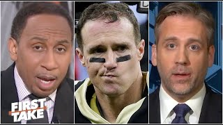 Stephen A. and Max react to Drew Brees, Saints falling to Tom Brady and the Bucs | First Take