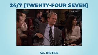 24/7 (twenty-four seven) (long version)- Learn English with phrases from TV series - AsEasyAsPIE