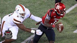 Miami Hurricanes vs. Louisville Cardinals | 2020 College Football Highlights