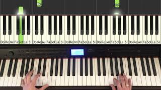 """Mariage d'Amour (""""Spring Waltz"""") - Paul de Senneville - comment jouer au piano, Synthesia"""