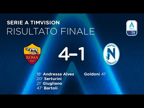 VIDEO - Roma Femminile, da Andressa a Bartoli: gli highlights del 4-1 al Napoli