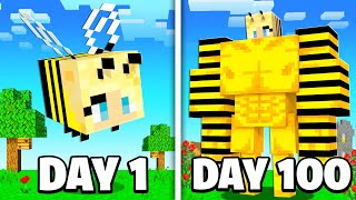I Survived 100 Days as a BEE in Minecraft...