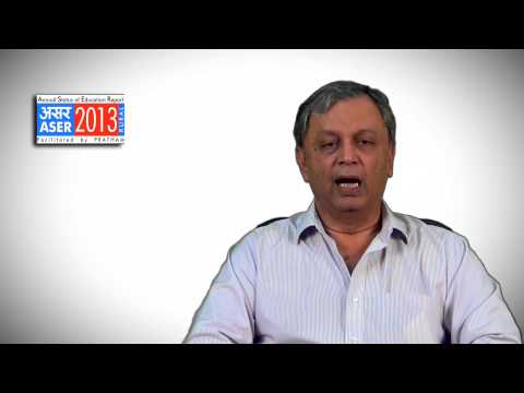 Dr. Madhav Chavan's Message for ASER 2013 National Workshop