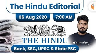 7:00 AM - The Hindu Editorial Analysis by Vishal Sir | 6 August 2020 | The Hindu Analysis