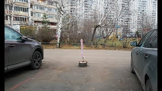 Захват парковочных мест во дворе
