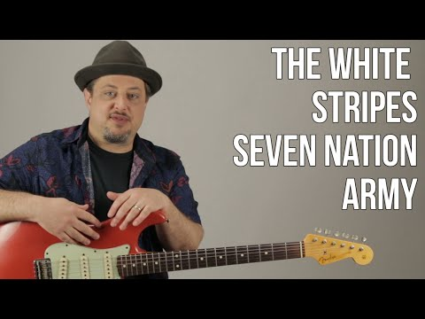 Seven Nation Army guitar Lesson - White Stripes - Jack White - How to Play