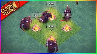 Raiding With ONLY SUPER P.E.K.K.A.S!!! Clash of Clans UPDATE HYPE