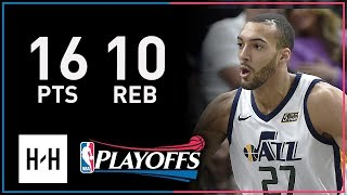 Rudy Gobert Full Full Game 4 Highlights Thunder vs Jazz 2018 NBA Playoffs - 16 Pts, 10 Reb!