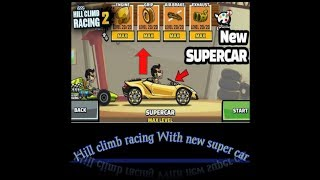 Hill Climb racing with the new supercar...