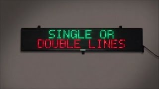 Programmable Scrolling LED Signs with Wireless Remote