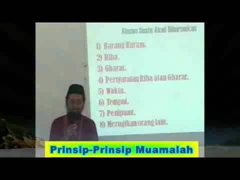 Prinsip-Prinsip Muamalah