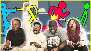 SUPER FUN, CRAZY, ALL OVER THE PLACE FIGHTING GAME!! - Stick Fight Gameplay