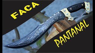 """FACA PANTANAL """"Homenagem ao pantanal Brasileiro"""" PANTANAL KNIFE """"Homage to the Brazilian Pantanal"""""""