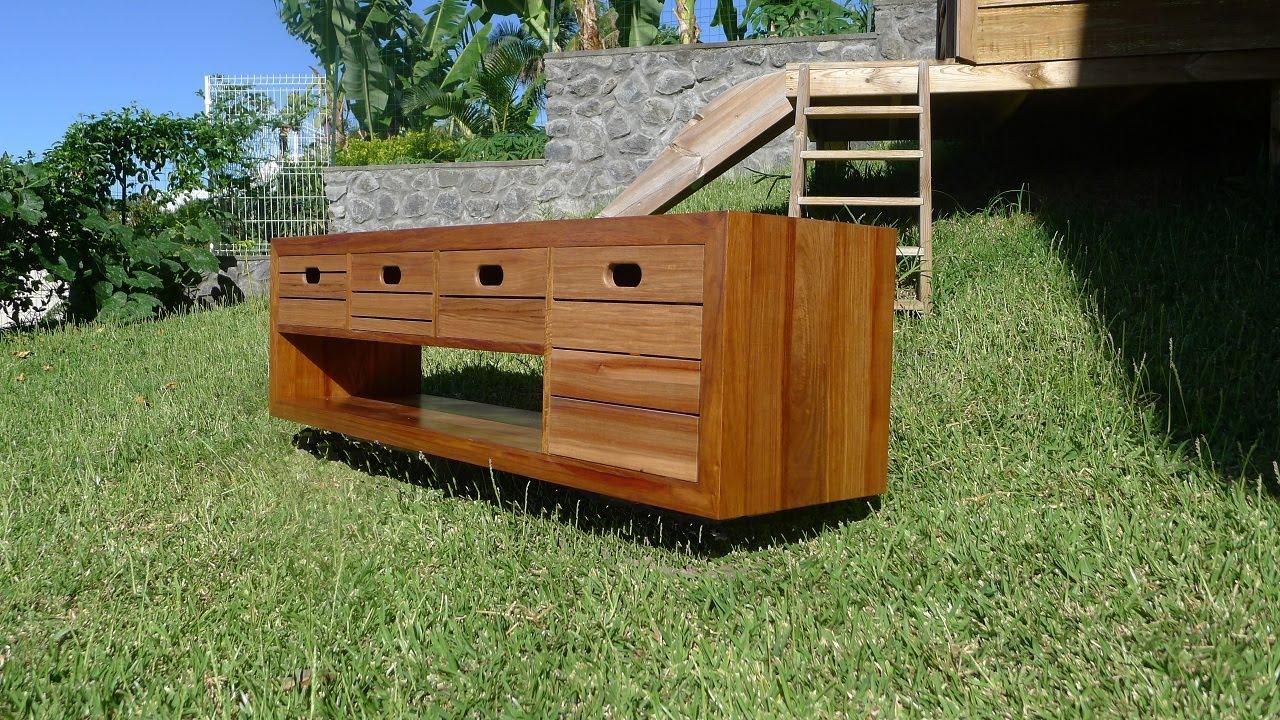 Travail du bois construction d 39 un meuble de salle de - Creer son meuble salle de bain ...