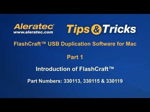 Introduction of FlashCraft Software for Mac - Aleratec Tips & Tricks Part 1