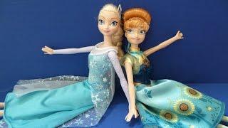 Búp Bê Công Chúa Tuyết Elsa Công Chúa Anna từ Phim Nữ Hoàng Băng Giá (Bí Đỏ)  귀여운 인형 엘사와 안나 냉동 2015