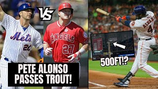Pete Alonso PASSES Mike Trout In HR Race! 500FT Home Run Hits Third Deck (MLB Recap)