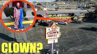 you won't believe what my drone saw at the haunted clown motel / scary killer clown sighting!