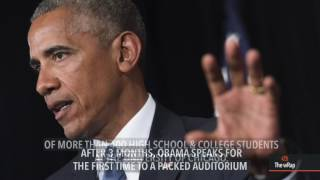 Obama ready to train new leaders in first post-presidency speech