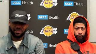LeBron James and Anthony Davis Postgame; Lakers beat the Pacers
