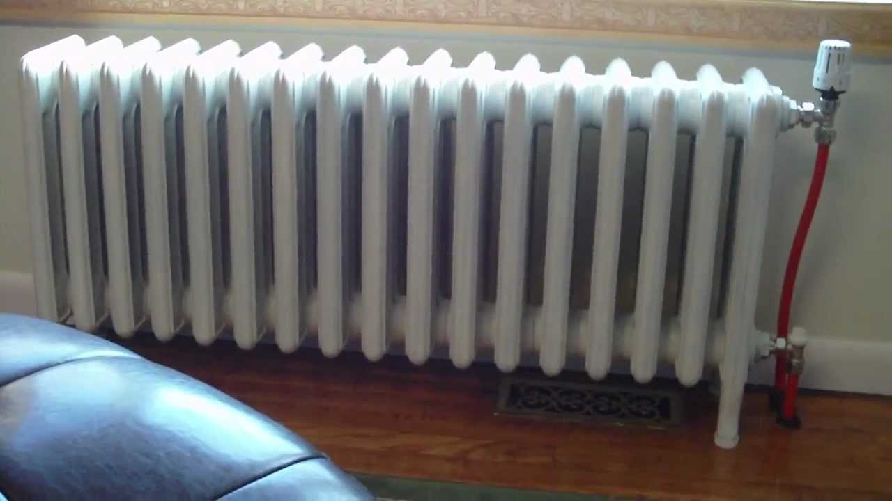 Cast Iron Radiator Hot Water Conversion 2 Youtube