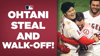 Shohei Ohtani gets the CLUTCH steal, Jared Walsh walks it off for Angels!