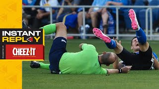 Referee Subbed After Huge Collision, 2 Big Decisions for New Referee