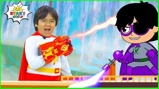 SuperHero Red Titan Ryan vs Dark Titan Road Trip Adventure!!