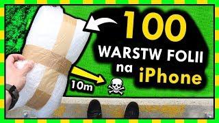 100 WARSTW FOLII BĄBELKOWEJ na iPhone VS UPADEK Z WYSOKOŚCI ◉_◉