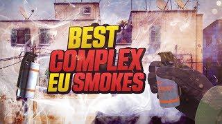 CS:GO - WHEN PROS THROW EU SMOKES (DIFFICULT SMOKES)