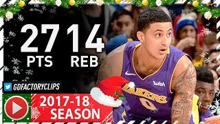 Kyle Kuzma Full Highlights vs Warriors (2017.12.22) - 27 Pts, 14 Reb