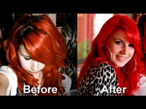 Bright Red Hair No Pre Bleaching Tutorial Using