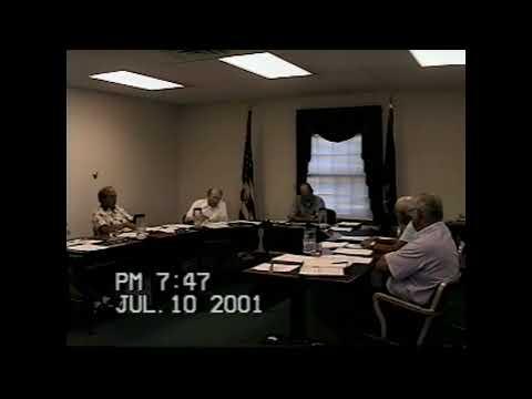 Champlain Town Board Meeting  7-10-01