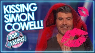 SMOOCHING SIMON! Contestants GET TO KISS SIMON COWELL on Got Talent & X Factor