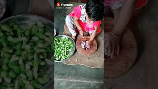 Cute little baby making some amazing food....