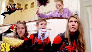 Escape the Babysitter! Noah's Spider-Man: Into The Spider-Verse Movie Night Showdown | SuperHeroKids