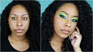 Dramatic Green Cut Crease | Box of Crayons Palette | TheHeartsandcake90