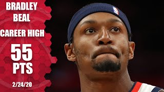 Bradley Beal drops career-high 55 points one night after scoring 53 | 2019-20 NBA Highlights