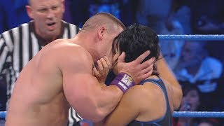 John Cena surprises Vickie Guerrero with a kiss: SmackDown, Dec. 21, 2010