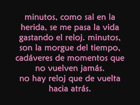 Ricardo arjona-minutos con letra