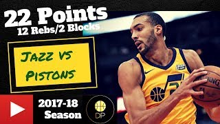 Rudy Gobert vs Pistons 3/13/18 | 22 Pts, 12 Rebs, 2 Blocks