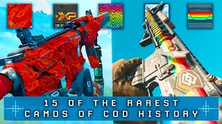 15 of the RAREST CAMOS in Call of Duty History...