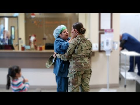 Army Soldier Surprises Mom At Work *EMOTIONAL*