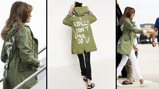 Melania Trump Wears 'I Really Don't Care' Jacket Before Texas Visit
