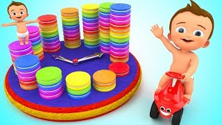 Learn Numbers with Baby Color Biscuits Wooden Clock Toy 3D Kids Toddlers Learning Educational