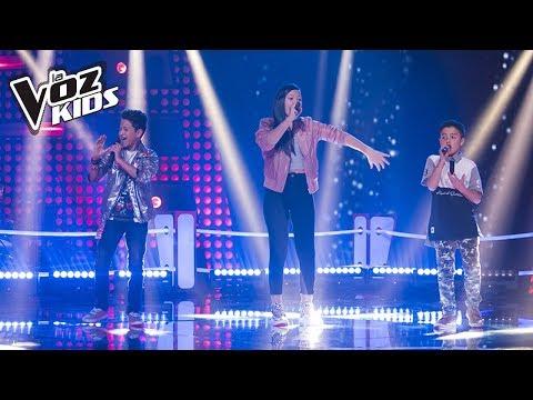 YouJuand, Karla y Juanse cantan Robarte un Beso – Batallas | La Voz Kids Colombia 2018