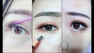 Hướng dẫn kẻ mắt và kẻ chân mày 🎀 Easy Eyeliner and Eyebrow  Tutorial For Beginners | Part 6