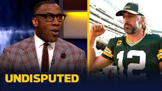Shannon Sharpe reacts to Aaron Rodgers yelling