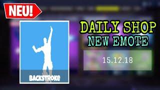 FORTNITE DAILY ITEM SHOP 15.12.18 | NEUES BACKSTROKE EMOTE!!